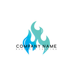 Fire flame burn logo logotype template vector