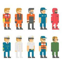 Flat design coast guard uniform vector image