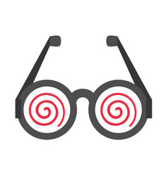 Funny eyeglasses april fools vector