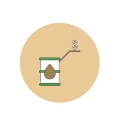 In flat design of oil barrel vector