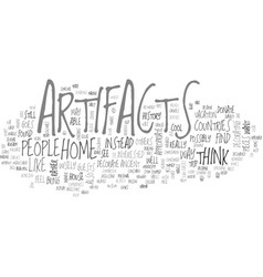 Is it appropriate to decorate with artifacts text vector