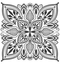 Monochrome oriental ornament vector