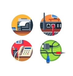 Office equipment set vector