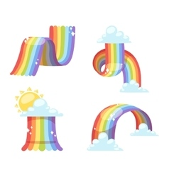 Rainbow set isolated vector image