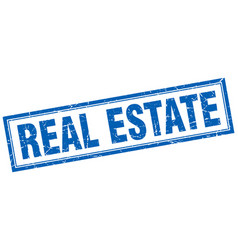 Real estate square stamp vector