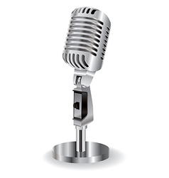 retro microphone isolated on a white background vector image vector image