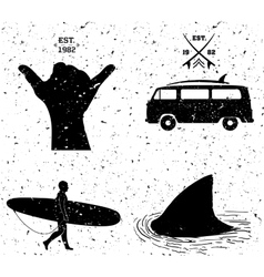 surfing designs grunge style vector image vector image
