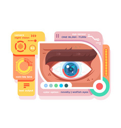 technology in retina of eye flat vector image