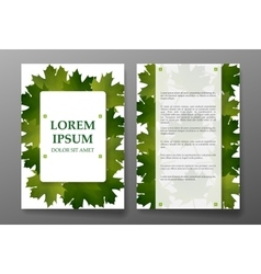 Template brochure with foliages seasons colors vector image