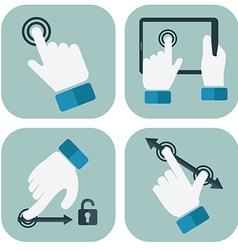 Touch screen hand gesture collection vector
