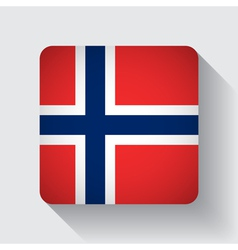 Web button with flag of norway vector