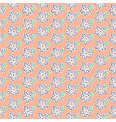Summer pastel flowers vector image