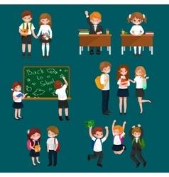 happy children doing vector image
