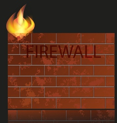 Firewall icon vector
