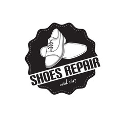 image of logo of shoe repair services vector image
