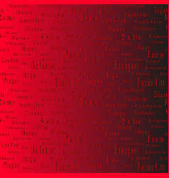 seamless text pattern with name of cities vector image