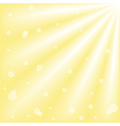 Sun with ray of lights and bokeh vector image