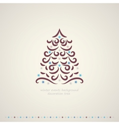 Winter trees events background vector