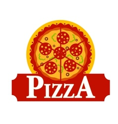 Pizza sign vector