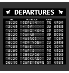 Airport departure board vector