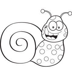 Cartoon happy snail vector