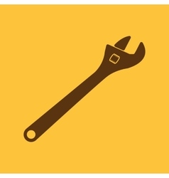 The adjustable wrench icon vector image