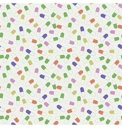 Seamless pattern with colorful medical pills vector