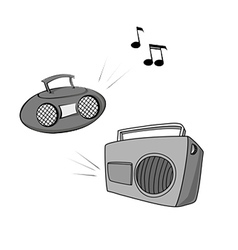 Boomboxes vector