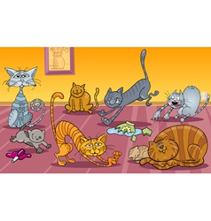 Cats at home vector