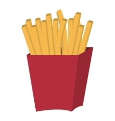 Red container and fries graphic vector