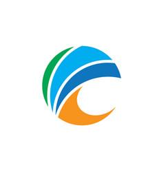 abstract circle arrow business logo vector image vector image