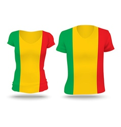 Flag shirt design of Mali vector image vector image