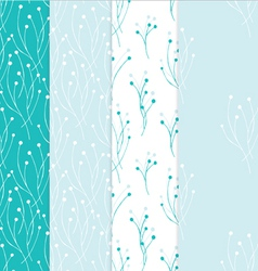 Four seamless background in light blue colors vector