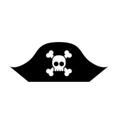 Hacker skull alert isolated icon vector