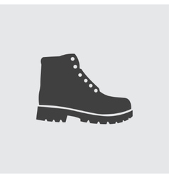 Hiking boots icon vector image vector image
