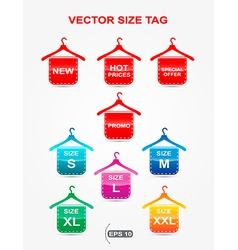 icon size hangers form vector image