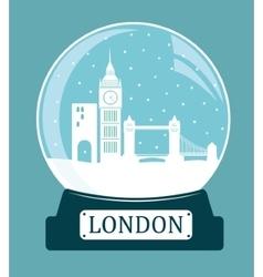 London christmas glass ball vector
