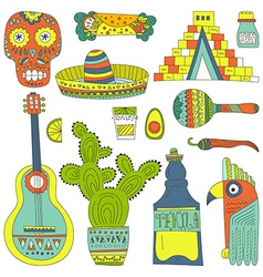 Mexican elements vector
