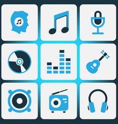 multimedia colored icons set collection of vector image