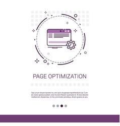 page optimization content management web banner vector image