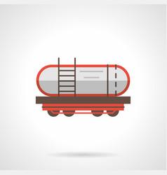Petroleum rail car flat color icon vector