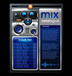 play list layout vector image vector image