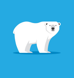 Polar bear icon in flat style vector