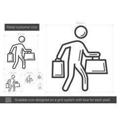 Retail customer line icon vector