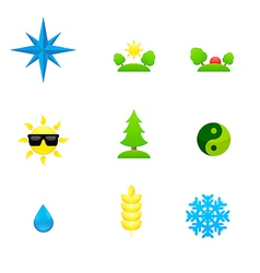 Set of icons of different directions vector image vector image
