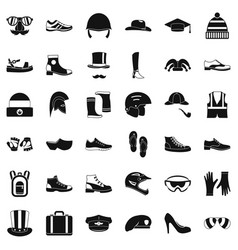 Stylish clothes icons set simple style vector