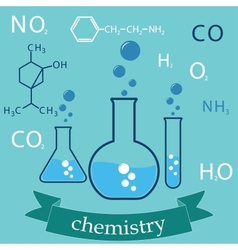subject of chemistry vector image vector image