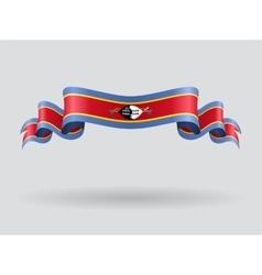 Swaziland wavy flag vector image vector image