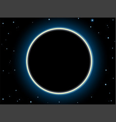 Total solar eclipse scene vector
