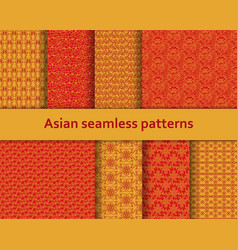 traditional asian seamless patterns set vector image vector image